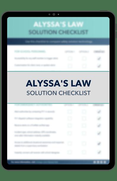 Alyssas Law Solution Checklist